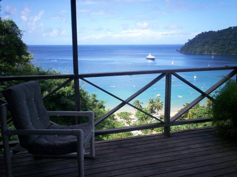 Looking out to sea - Bella Vista Cottage, Charlotteville, Tobago - Charlotteville - rentals