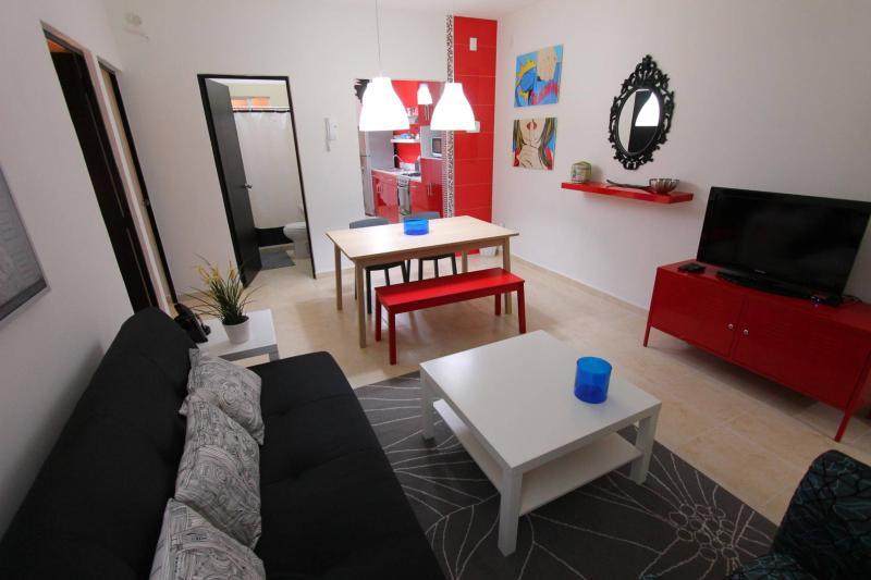 living room view - NEW 2 BEDROOM CONDO Playa del Carmen Caleta 1 - Playa del Carmen - rentals