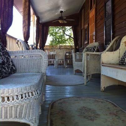 The back porch is perfect for cocktails, dining or just reading and relaxing! - Isabella House: Vintage 1885 Cottage  601-660-4345 - Natchez - rentals