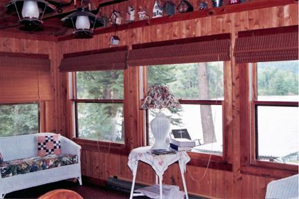 Screened in Porch - 4 Bedroom Lake Front Cabin in White Mts of NH - Piermont - rentals