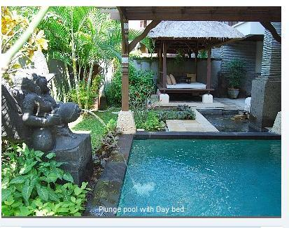 Lovely yard with pool, day bed - Gorgeous, apt with pool, yard, WiFi, private beach - Nusa Dua - rentals