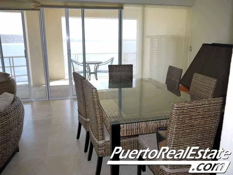 Dining room w/ view - Le Blon - Luxury 2 BR apt overlooking beach - Puerto Escondido - rentals