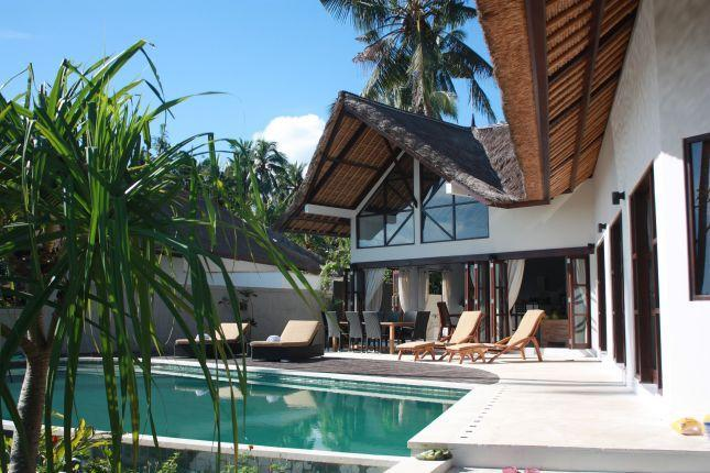 Pool and terrace - Beach front luxuary villa in authentic north Bali - Singaraja - rentals