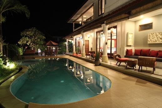 Padi Karo at night - Villa Padi Karo: 3 Suite Villa with Private Pool - Bali - rentals