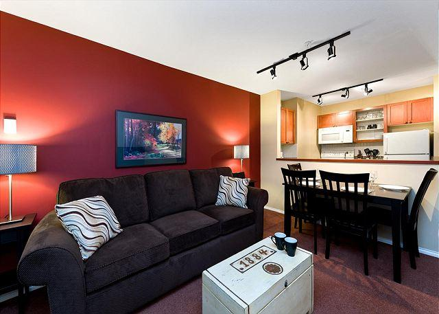 """Great unit. We really appreciated that the kitchen was so well stocked, it made dining in an easy option"" - 100 Glaciers Reach this 1br home has a hot tub & pool in Whistler Village - Whistler - rentals"