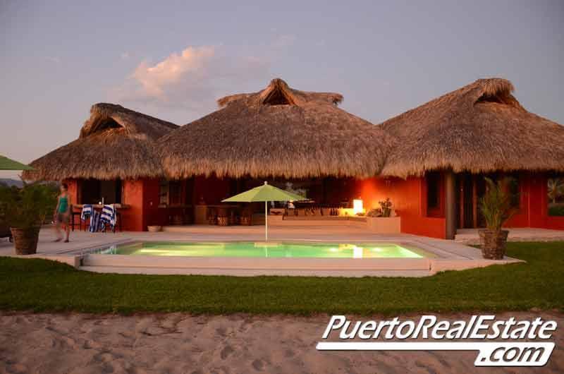 Beachfront view of Casa Chulani - Casa Chulani: New, 3BR villa in Rancho Neptuno - Puerto Escondido - rentals