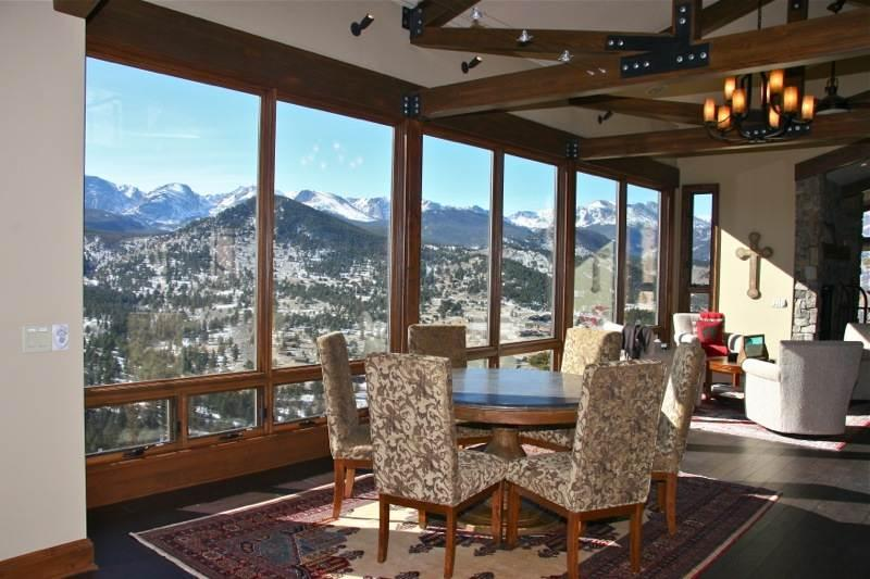 The Stewart Highlands in Windcliff, Estes Park, luxury, vacation rental, mountain view, gourmet kitchen, Rocky Mountain National Park, YMCA of the Rockies, wildlife. - Image 1 - Estes Park - rentals
