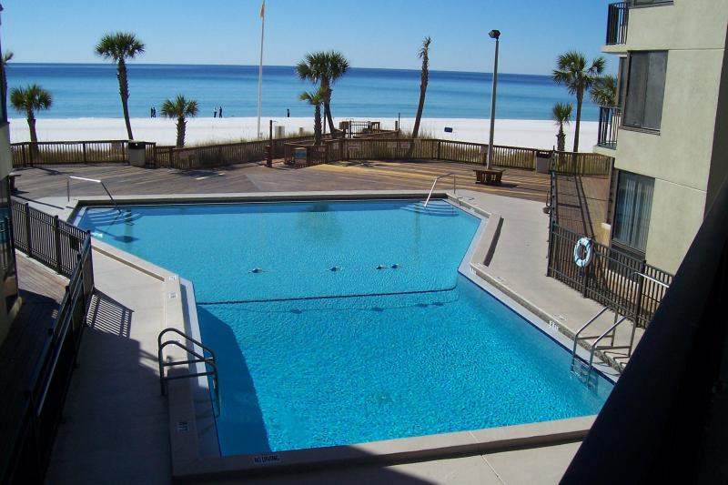 Center pool overlooking gulf - 8th Floor Beachfront  Condo with Awesome View - Panama City Beach - rentals