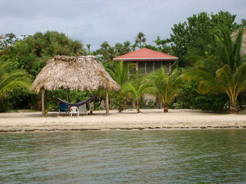 View of our house from the water - Caribbean Delite Macaw House    25% discount 2016 - Placencia - rentals