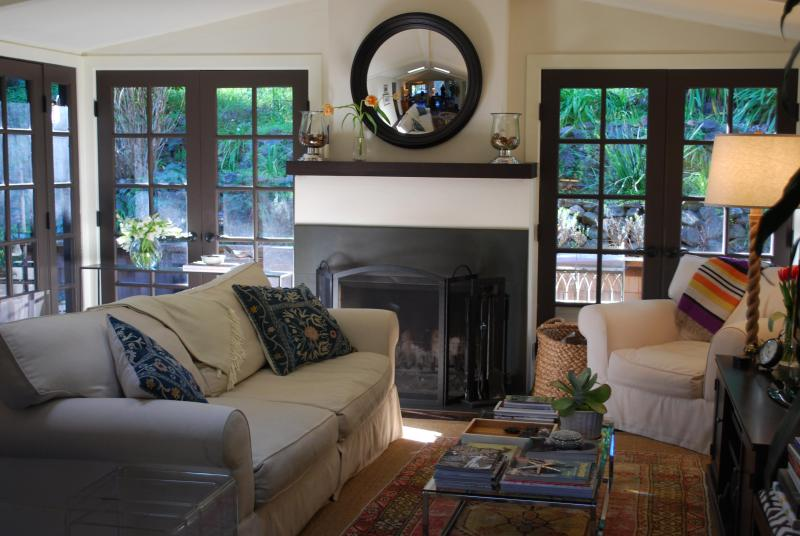 large comfy living room - Downtown Mill Valley walk to everything Charming - Mill Valley - rentals