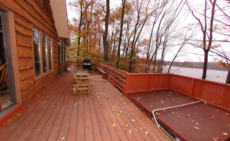 Lakefront Chalet w/ Hot Tub, Dock, Boat, Game Room - Image 1 - Gouldsboro - rentals