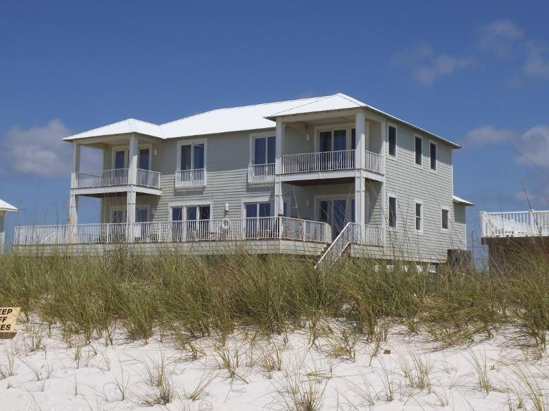 "Back of home, photo taking from beach - ""Crews Quarters"" Luxury Gulf Front Home w/pvt pool - Gulf Shores - rentals"