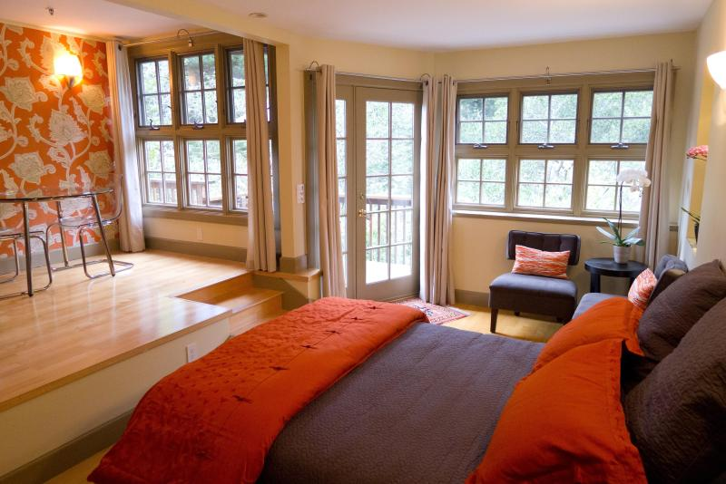 A bright, private studio conveniently located for beach, mountains, wine country and San Francisco - Sumptuous, serene, split-level studio - Mill Valley - rentals