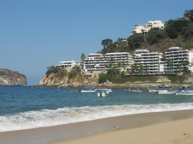 Condos seen from the beach - La Jolla de Mismaloya Oasis Condominium - Puerto Vallarta - rentals