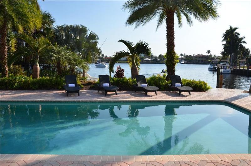 "Spectacular Heated Pool Area Offering Breathtaking Unobstructed Water Views.. - By The Sea Vacation Villas LLC- ""Casa Santa Barbara"" WATERFRONT STUNNING VIEWS!! - Pompano Beach - rentals"