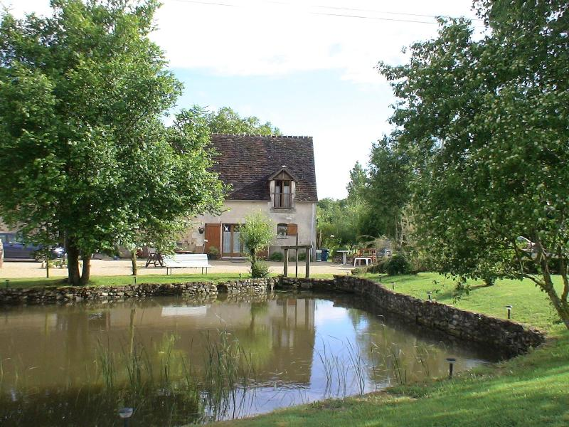 Le Colvert overlooking our Duckpond - Gite 'Le Colvert' - Chemille Sur Indrois - rentals