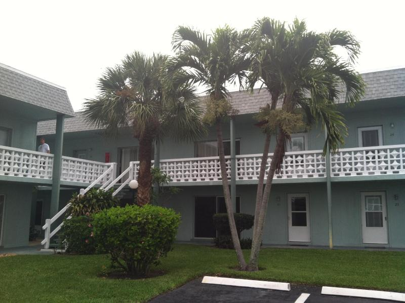 Approach to Your Unit - Steps to Private Beach, Cocoa Beach Condo Rental - Cocoa Beach - rentals