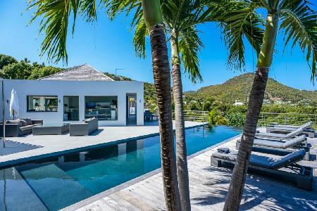 Brand new contemporary Avenstar, two heated pools & water fall stone garden - Image 1 - Camaruche - rentals