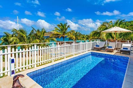 Exquisite beachfront Villa Celina, with pool, tropical garden & staff - Image 1 - Flamands - rentals