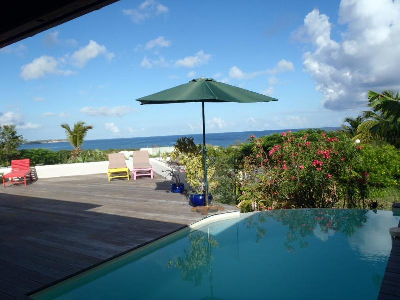 VIEW FROM THE TERRACE - HUMMINGBIRD VILLA - Marigot - rentals