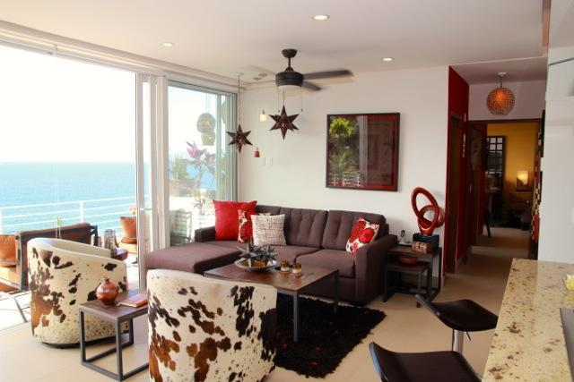 Living Room showing queen pullout - Casa de la Cruz | Stunning 1BD/2BA | Private Pool - Puerto Vallarta - rentals