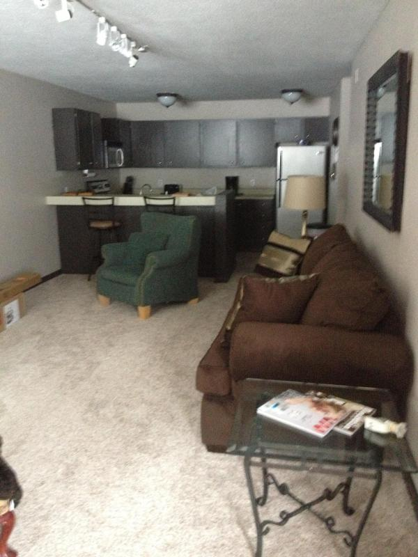 Living and kitchen from front door - Comfy,convenient,charming condo in East Vail - Silverthorne - rentals