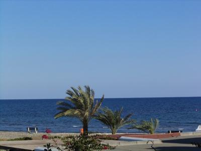 View from balcony - Beautiful sea front holiday apartment near Larnaca - Larnaca District - rentals