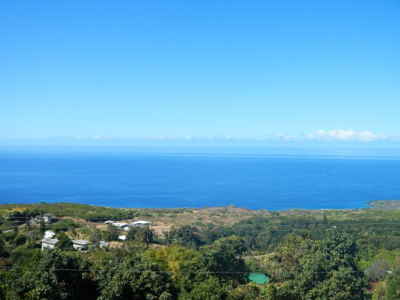 Full coastline and Ocean view from lanai - Coffee Villa in Tropical Paradise - Holualoa - rentals