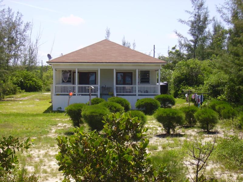View of house as seen from the beach - Seabreeze Cottage, Eleuthera Bahamas - Tarpum Bay - rentals