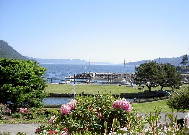 Sunny southerly views looking up Cascade Bay. - Seawatch on Orcas Island - Eastsound - rentals