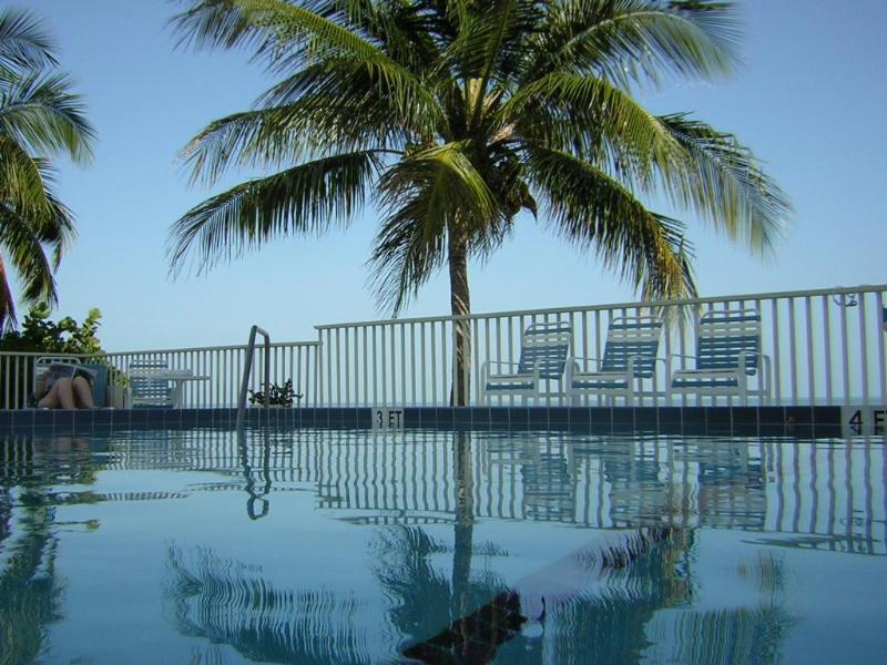 From the pool ocean side - Ocean/Beachfront  Condo on Coco Plum - Marathon - rentals