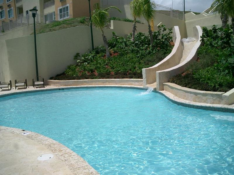 pool with a built-in slide which the kids love - Best Vacation In Caribbean - Fajardo - rentals