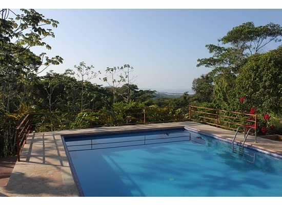 View of Pool from Living Room - Casa de Ventanas, Ojochal Costa Rica - Ojochal - rentals