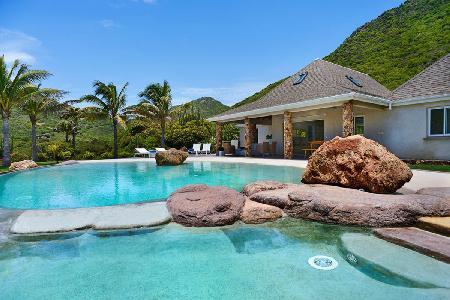 Impressive, ocean view La Roche dans l'Eau boasts a unique, beach-style pool - Image 1 - Grand Fond - rentals