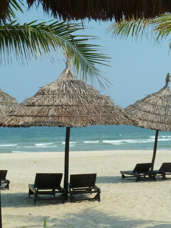 150m to these chairs on the famous China Beach - Oceanview Villa, 5x1 Bdrm Apts, Beach, Housekeeper - Da Nang - rentals