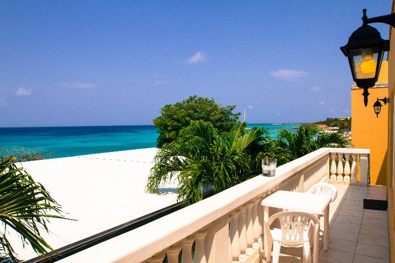 The Ocean view from the 1st floor apartments - Your Home away from Home With Ocean View- Ocean105 - Malmok Beach - rentals