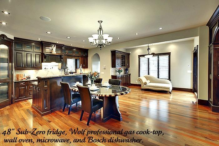 Handcrafted Kitchen,Professional cooktop with sitting areas - Luxury Mansion with riverview, Kensington,Downtown - Calgary - rentals