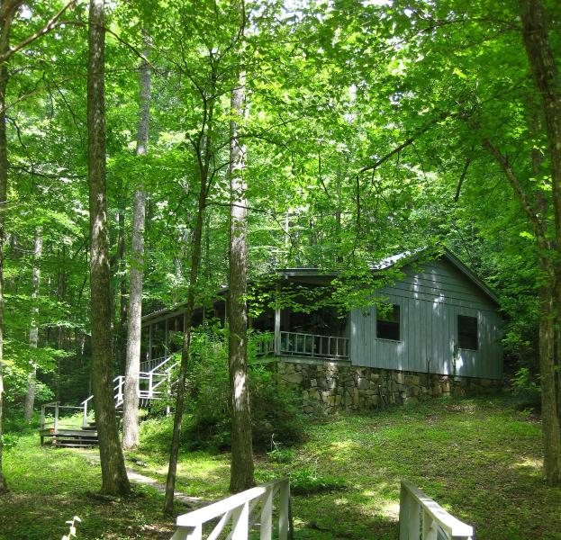 By the Babbling Brook - MY LITTLE BLUE HOUSE   Conveniently located - Hiawassee - rentals