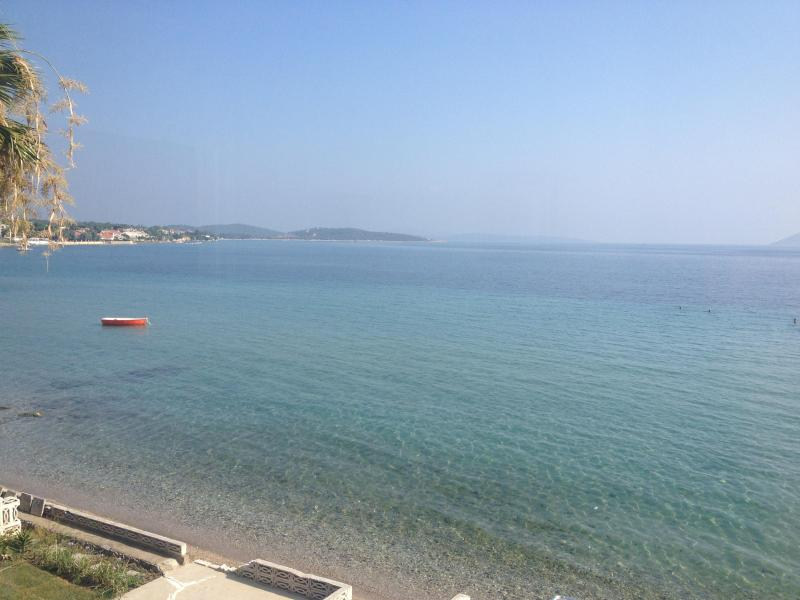 Stunning view from the Patio and Balcony and Roof top Deck - Buckingham Villa By The Sea - Direct Sea Front Exquisite Turkish Rental - Urla - rentals
