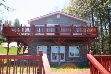 Waterfront view of cottage. - Sailors Rest - Otis - rentals
