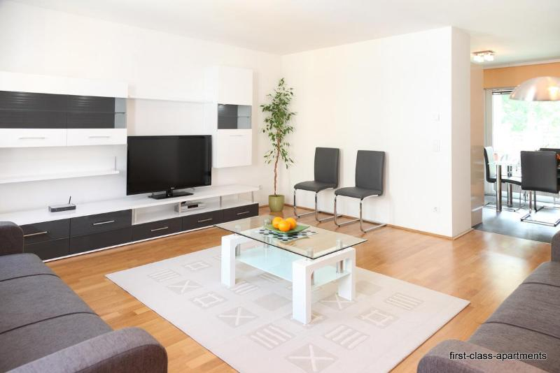 living room and the dining room behind - First-class-apartments Schoenbrunn - Vienna - rentals