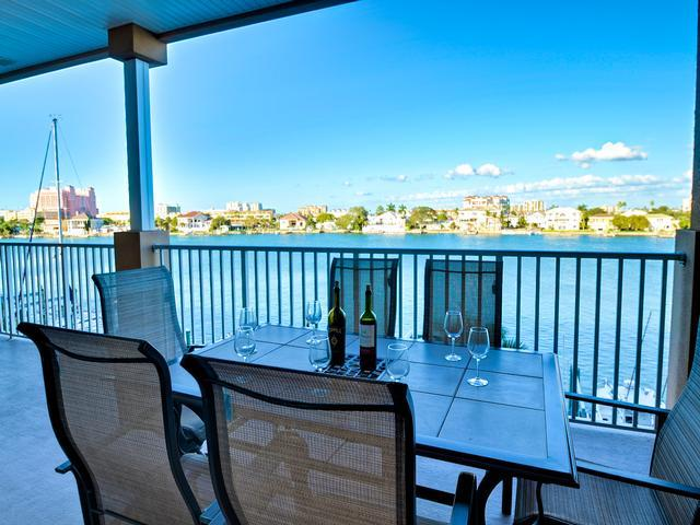 Beautiful waterside setting for your Clearwater Beach vacation - Island Key Condos 303 Large Balcony overlooking Bay | Quiet Location on - Clearwater Beach - rentals