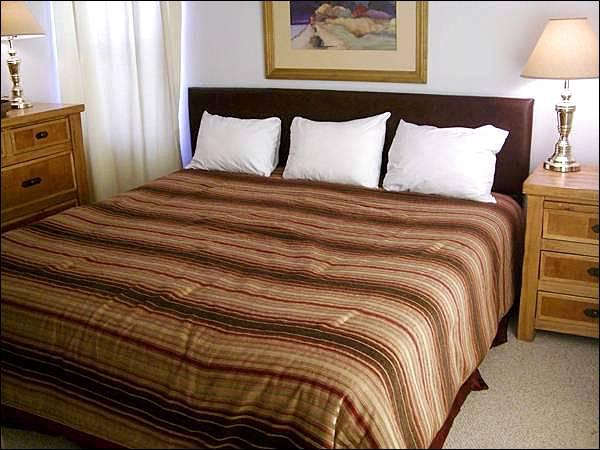 Master Bedroom Includes a King Bed - Cute Chateaux Condo - Great for Groups or Families (1249) - Crested Butte - rentals