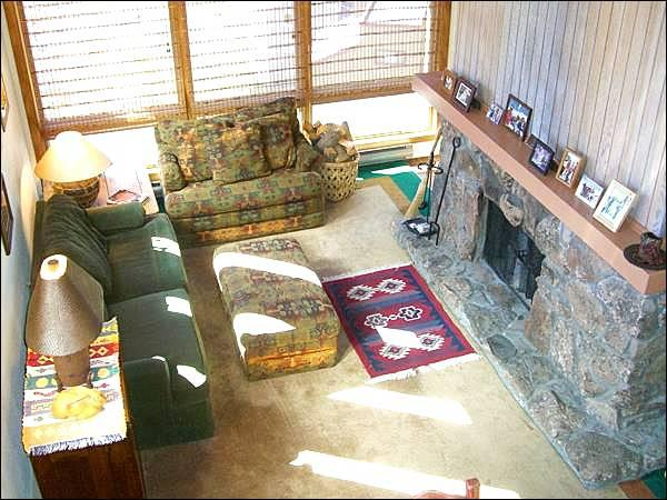 Spacious and Sunny Living Room Boasts a Wood-Burning Fireplace - Fantastic Family Accommodations - On the Shuttle Route (1267) - Crested Butte - rentals