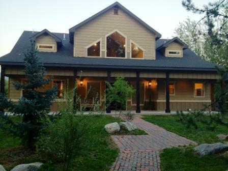 Artisan Crafted Brick Sidewalk leads to Entry - Spacious, Luxury Lodge in McCall with Sauna - McCall - rentals