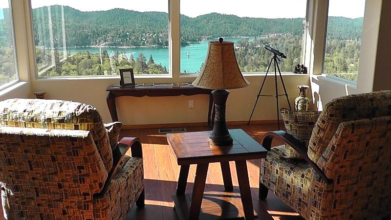 Sun room over looking lake - Breathtaking Lake View House Luxuriously Renovated - Lake Arrowhead - rentals