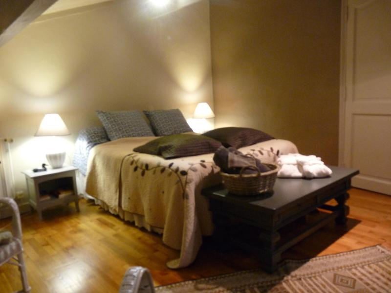 Bedroom with queen bed - Mas du Tilleul-family suite-B&Bs - Saint-Thome - rentals