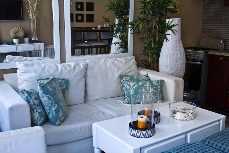 Comfy sofa and chair - LOVELY OCEANFRONT 2 BR CONDO UP TO 40%OFF - Puerto Plata - rentals