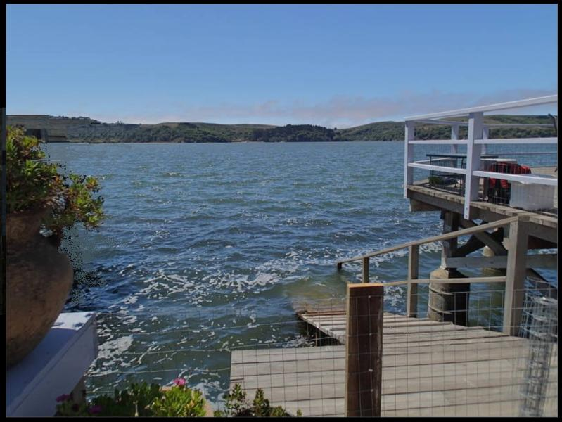 View from the cottage, deck and hot tub - Cottage on Tomales Bay at Pt Reyes National Park - Marshall - rentals