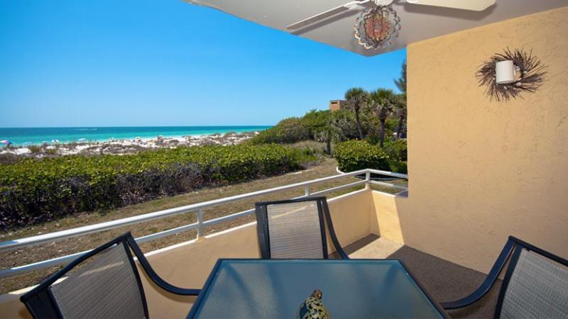 Balcony View | Looking North - Beaches and Dreams: 2BR Beachfront Condo with Pool - Holmes Beach - rentals